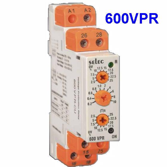 Relay bảo vệ quá áp, thấp áp, lắp DIN rail Selec 600VPR